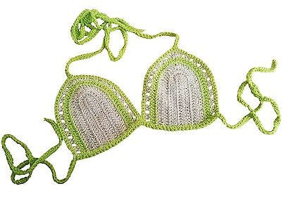 Knot in Love Neon Vibe Crochet Bikini Bra Top - GottaGo.in