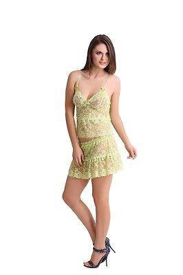 Bold Desire Babydoll Set Light Green #908D - GottaGo.in
