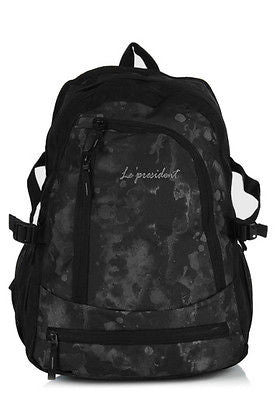Learner Black-Grey Backpack / School Bag by President Bags - GottaGo.in
