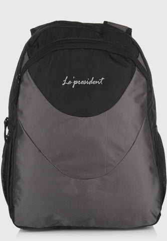 2 Face Grey Backpack / School Bag by President Bags - GottaGo.in