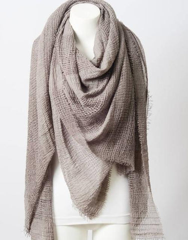 Perfect Square Light Beige Blanket Scarf - GottaGo.in