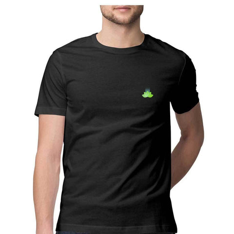 Suvo Leaf Round Neck Half Sleeves T-shirt for Men - GottaGo.in