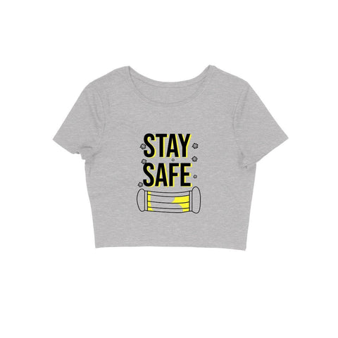 Stay Safe Crop Top in Cotton for Women - GottaGo.in