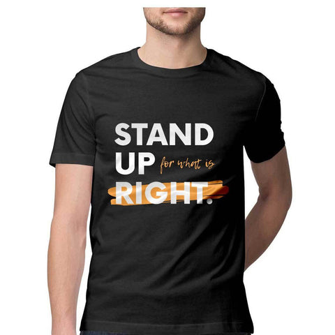 Stand Up Round Neck T-shirt for Men - GottaGo.in