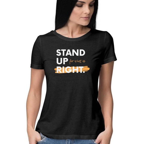 Stand Up Round Neck T-shirt for Women - GottaGo.in