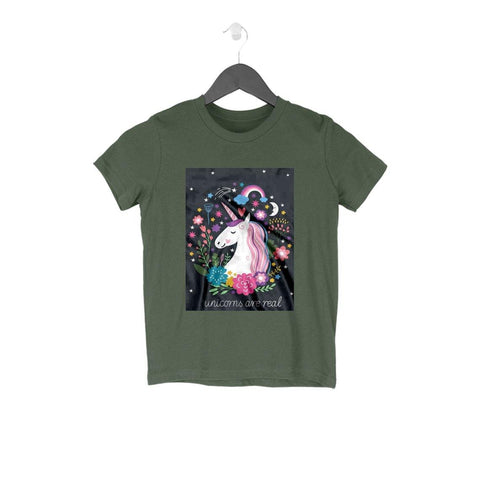 Unicorns Are Real Cotton T-shirt for Kids - GottaGo.in