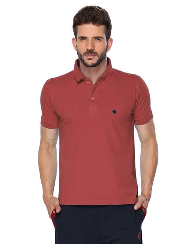 ONN Men's Cotton Polo T-Shirt in Solid Wine colour