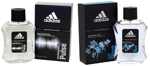Adidas Combo - Dynamic Pulse and Ice Dive EDT Perfume for Men (100 ml x 2) - GottaGo.in