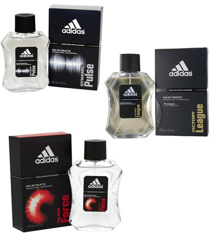 Adidas Combo - Dynamic Pulse, Team Force and Victory League EDT Perfume Men (100 ml x 3) - GottaGo.in