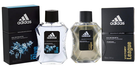 Adidas Combo - Ice Dive and Victory League EDT Perfume for Men (100 ml x 2) - GottaGo.in
