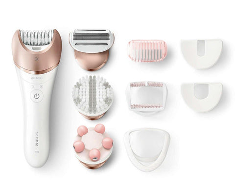 Philips BRE650/00 Cordless Epilator with 8 Attachments