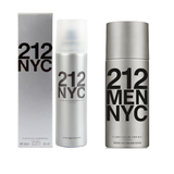 Set of Carolina Herrera 212 Deodorants (1 Men 150ml + 1 Women 150ml) - GottaGo.in