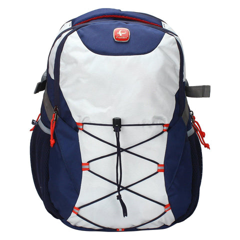 Choice Silver and Blue Backpack / School Bag by President Bags