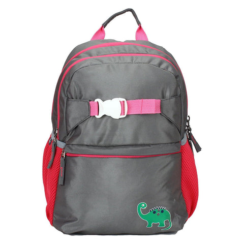 Dino Grey Backpack / School Bag by President Bags - GottaGo.in
