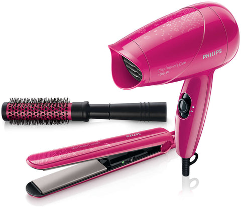 Philips HP8647/40 Hair Straightener + Dryer and Brush combo - GottaGo.in
