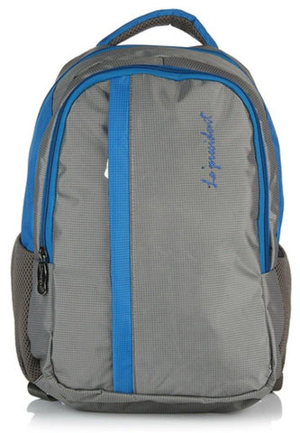 Candy Blue Laptop Backpack with Rain cover by President Bags - GottaGo.in