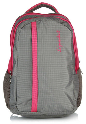 Candy Pink Laptop Backpack  with Rain cover by President Bags - GottaGo.in