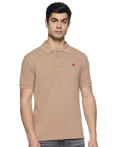 ONN Men's Cotton Polo T-Shirt in Solid Camel colour - GottaGo.in