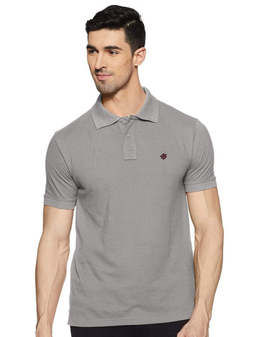ONN Men's Cotton Polo T-Shirt in Solid Grey Melange colour - GottaGo.in