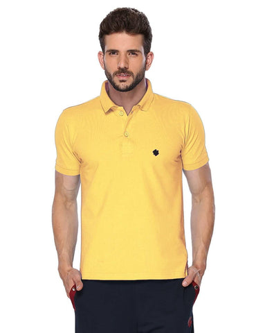 ONN Men's Cotton Polo T-Shirt in Solid Lemon colour - GottaGo.in