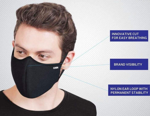 ONN 3 Layer Protection Mask (Pack of 2)
