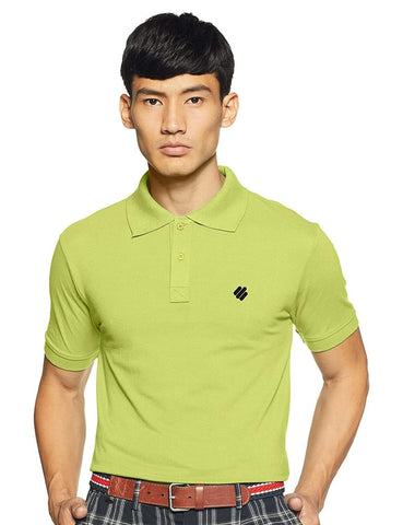 ONN Men's Cotton Polo T-Shirt in Solid Fluorescent Green colour - GottaGo.in