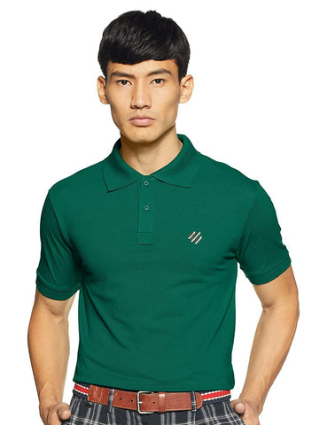 ONN Men's Cotton Polo T-Shirt in Solid Peacock Green colour - GottaGo.in