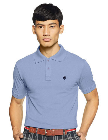 ONN Men's Cotton Polo T-Shirt in Solid Powder Blue colour - GottaGo.in