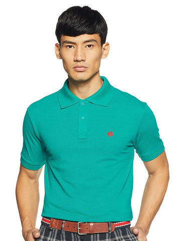 ONN Men's Cotton Polo T-Shirt in Solid Sea Green colour - GottaGo.in