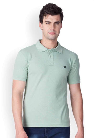 ONN Men's Cotton Polo T-Shirt in Solid Smoke Green colour - GottaGo.in