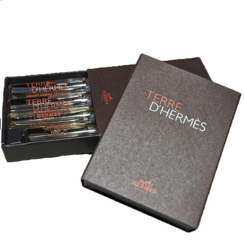 Terre D'Hermes Perfume Vials Set of 4 (3 x 2 ml + 1 x 1.5 ml)
