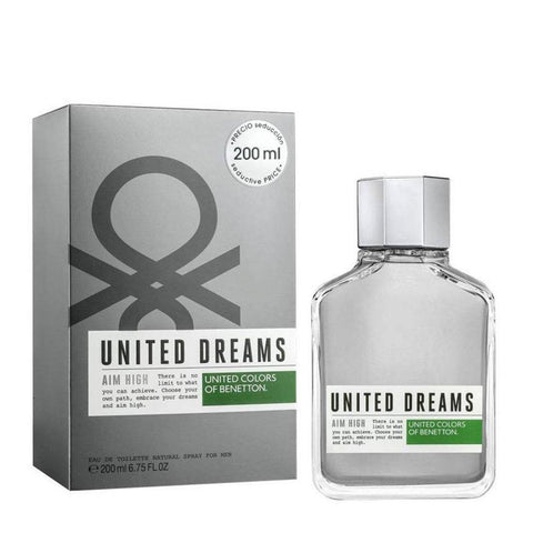 United Dreams Aim High EDT Perfume by United Colors of Benetton for Men 200 ml - GottaGo.in