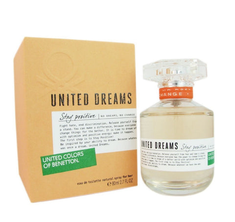 United Dreams Stay Positive EDT Perfume by United Colors of Benetton for Women 100 ml - GottaGo.in