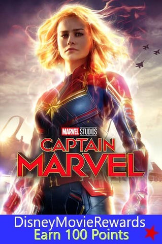 Captain Marvel Disney Rewards Points ONLY