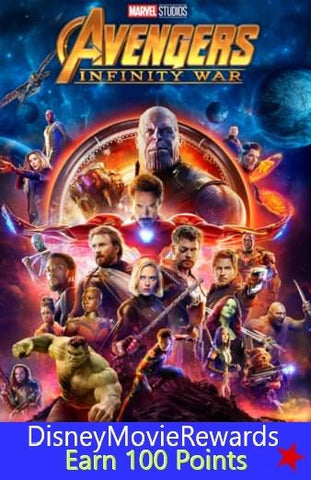 Avengers: Infinity War Disney Reward Points ONLY