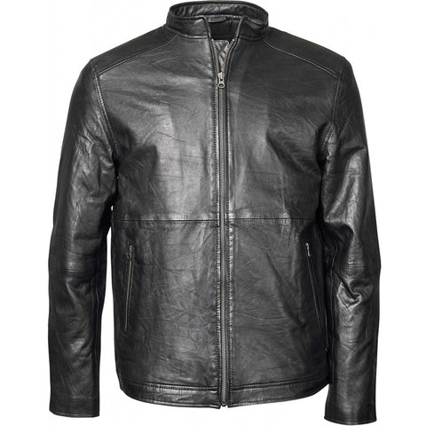 North 56°4 / Replika Jeans (Big & Tall) REPLIKA JEANS Biker leather jacket Jacket 0099 Black