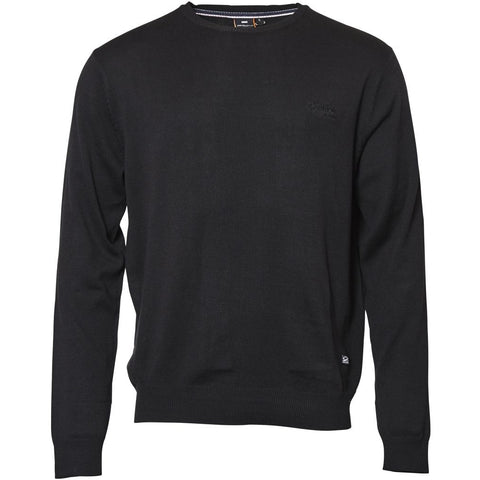 North 56°4 / Replika Jeans (Big & Tall) REPLIKA JEANS Crew-neck Knit TALL Knit 0099 Black