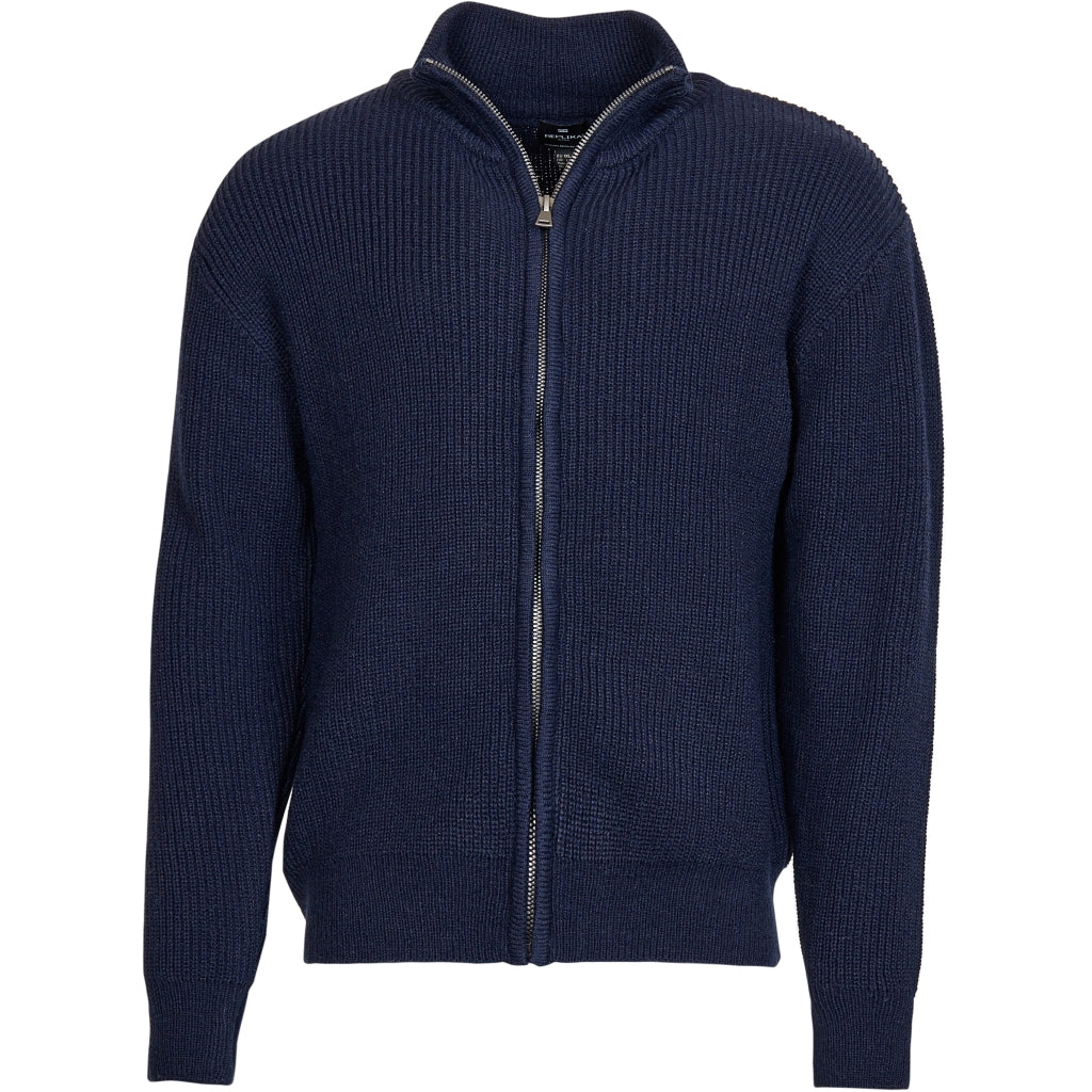 North 56°4 / Replika Jeans (Big & Tall) REPLIKA JEANS Full zip knit Knit 0580 Navy Blue