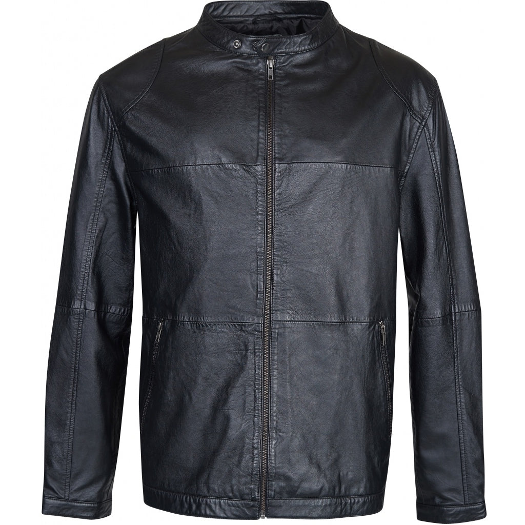 North 56°4 / Replika Jeans (Big & Tall) REPLIKA JEANS Leather jacket Jacket 0099 Black