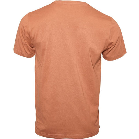North 56°4 / Replika Jeans (Regular) REPLIKA JEANS Printed tee T-shirt 0740 Cognac Brown