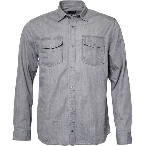 North 56°4 / Replika Jeans (Big & Tall) REPLIKA JEANS Shirt L/S Shirt LS 0095 Grey used wash
