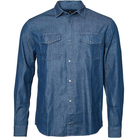 North 56°4 / Replika Jeans (Regular) REPLIKA JEANS Shirt L/S Shirt LS 0597 Blue Used Wash