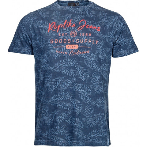 North 56°4 / Replika Jeans (Big & Tall) REPLIKA JEANS T-shirt S/S T-shirt 0930 Printed