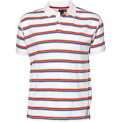 North 56°4 / Replika Jeans (Big & Tall) REPLIKA JEANS Striped polo S/S T-shirt 0000 White
