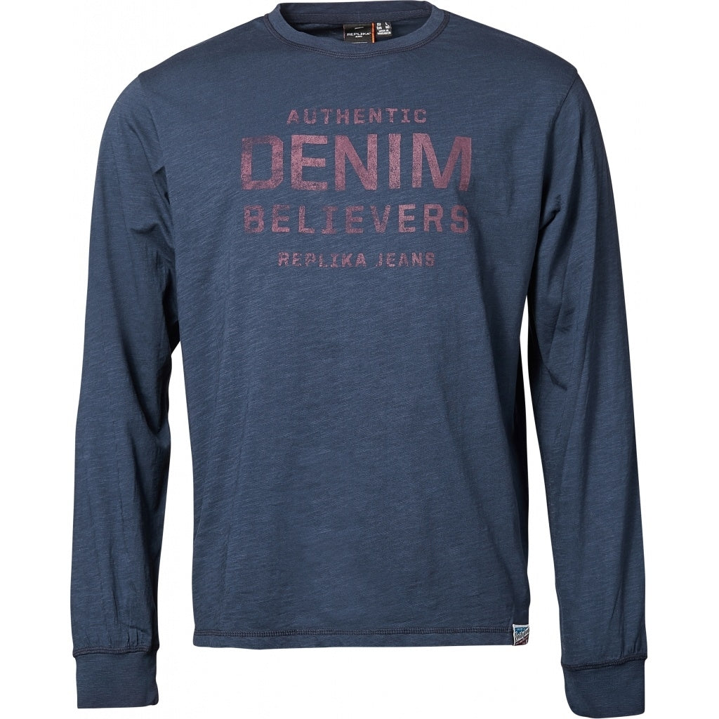 North 56°4 / Replika Jeans (Regular) REPLIKA JEANS T-shirt L/S T-shirt 0580 Navy Blue