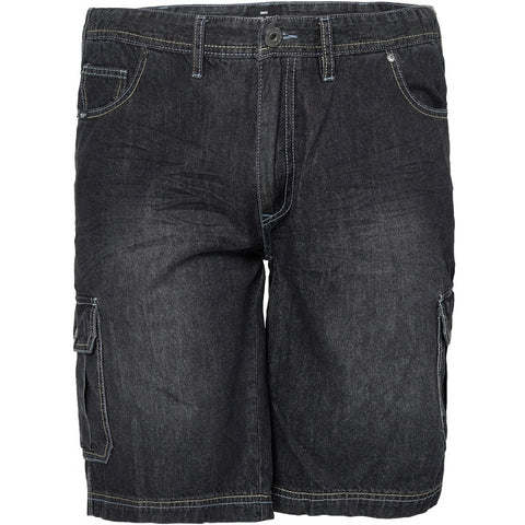 North 56°4 / Replika Jeans (Big & Tall) REPLIKA JEANS Denim shorts w/elastic waist Shorts 0097 Black Used Wash