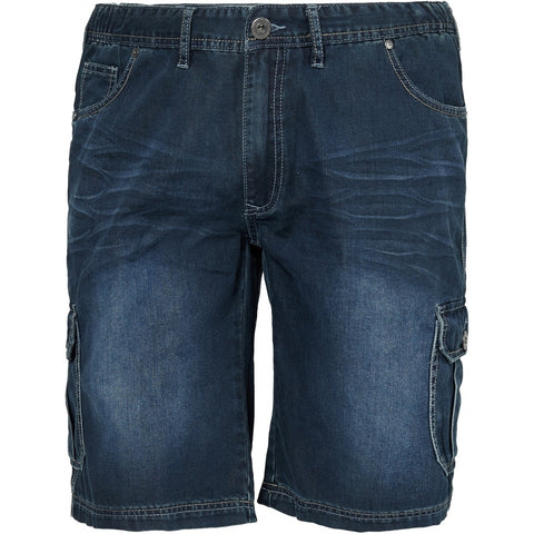 North 56°4 / Replika Jeans (Big & Tall) REPLIKA JEANS Denim shorts w/elastic waist Shorts 0597 Blue Used Wash