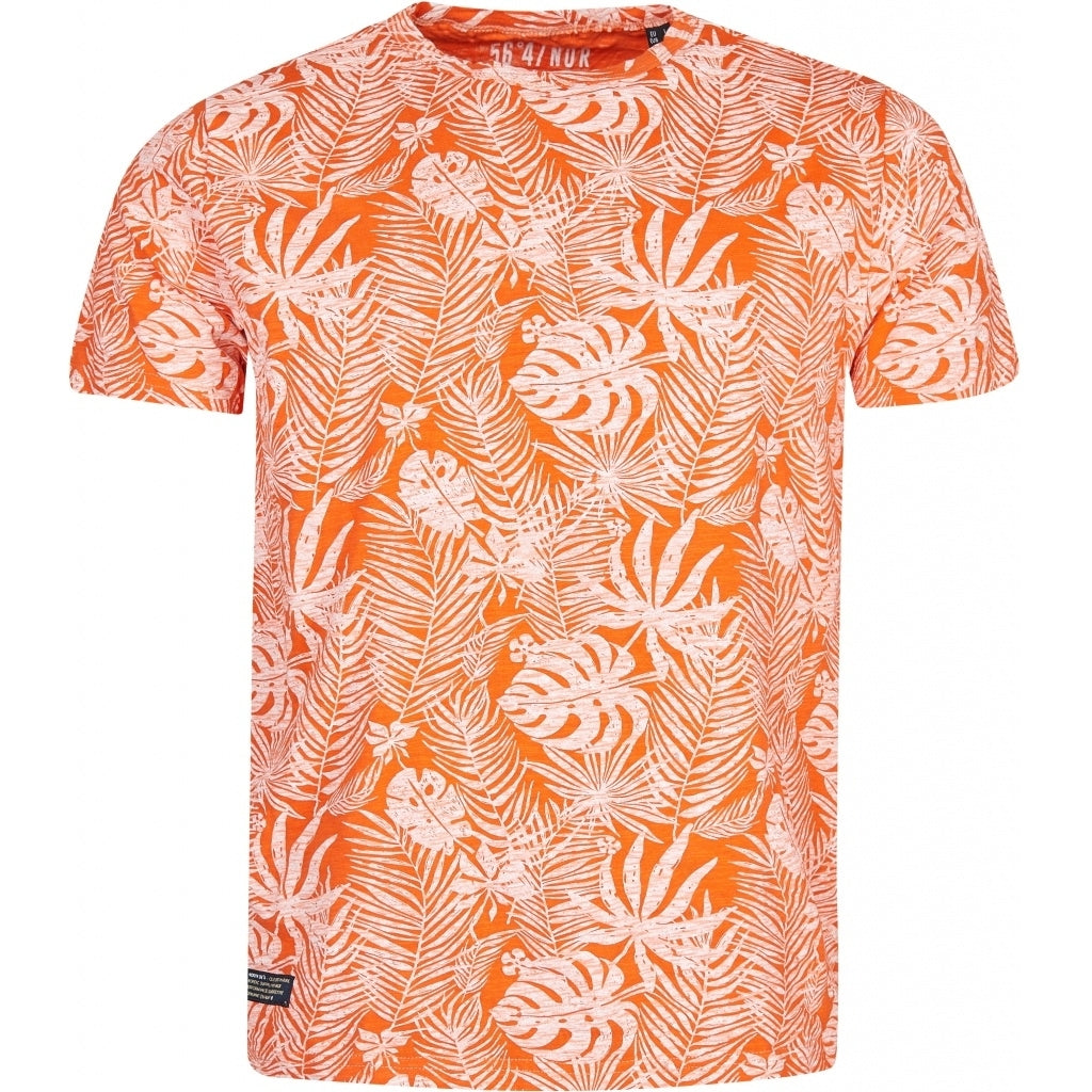North 56°4 / Replika Jeans (Big & Tall) North 56°4 Allover flower printed tee TALL T-shirt 0200 Orange