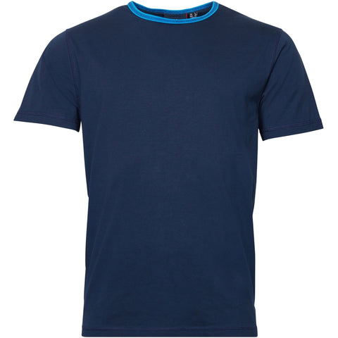 North 56°4 / Replika Jeans (Regular) North 56°4 Contrast neck tee T-shirt 0580 Navy Blue