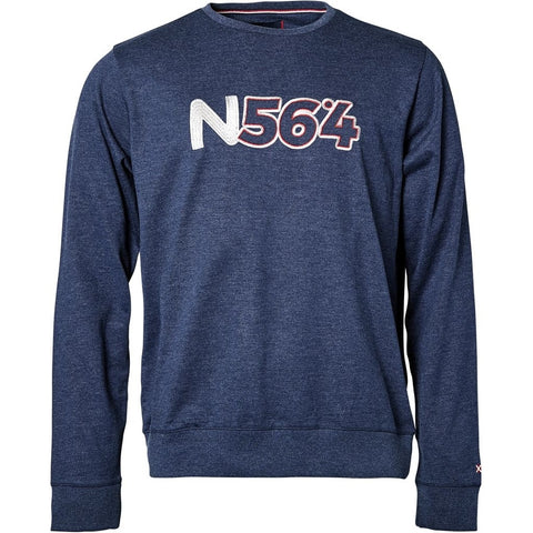 North 56°4 / Replika Jeans (Big & Tall) North 56°4 Crew-neck sweat Sweatshirt 0580 Navy Blue